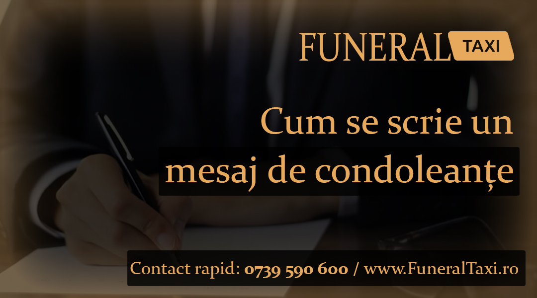 Cum se scrie un mesaj de condoleante